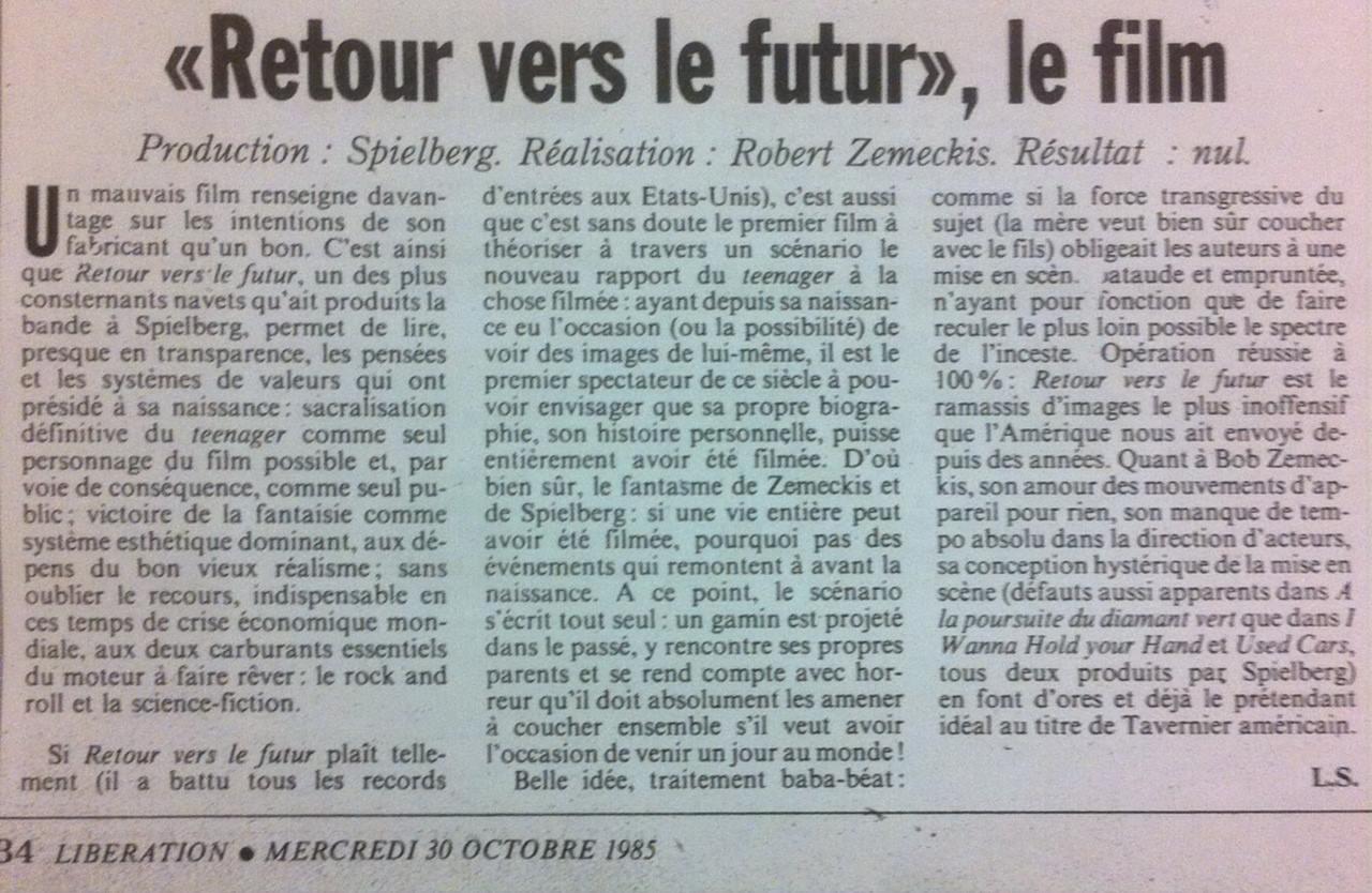 Retour vers le Futur par Louis Skorecki