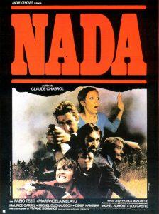 Affiche de Nada de Chabrol, adapté de Jean-Patrick Manchette