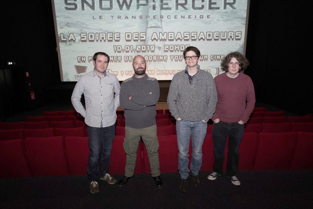 L'équipe de M. Bobine au cinéma Les 400 Coups