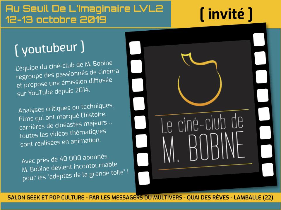 M. Bobine invité au salon Au Seuil de l'Imaginaire 2019 à Lamballe