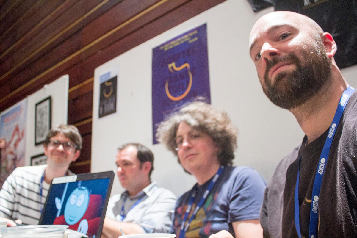 L'équipe du Ciné-club de M. Bobine au complet au Seuil de l'Imaginaire 2019