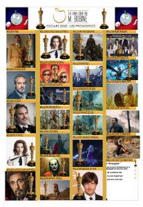la grille de pronostics des Oscars de Aurélien Films