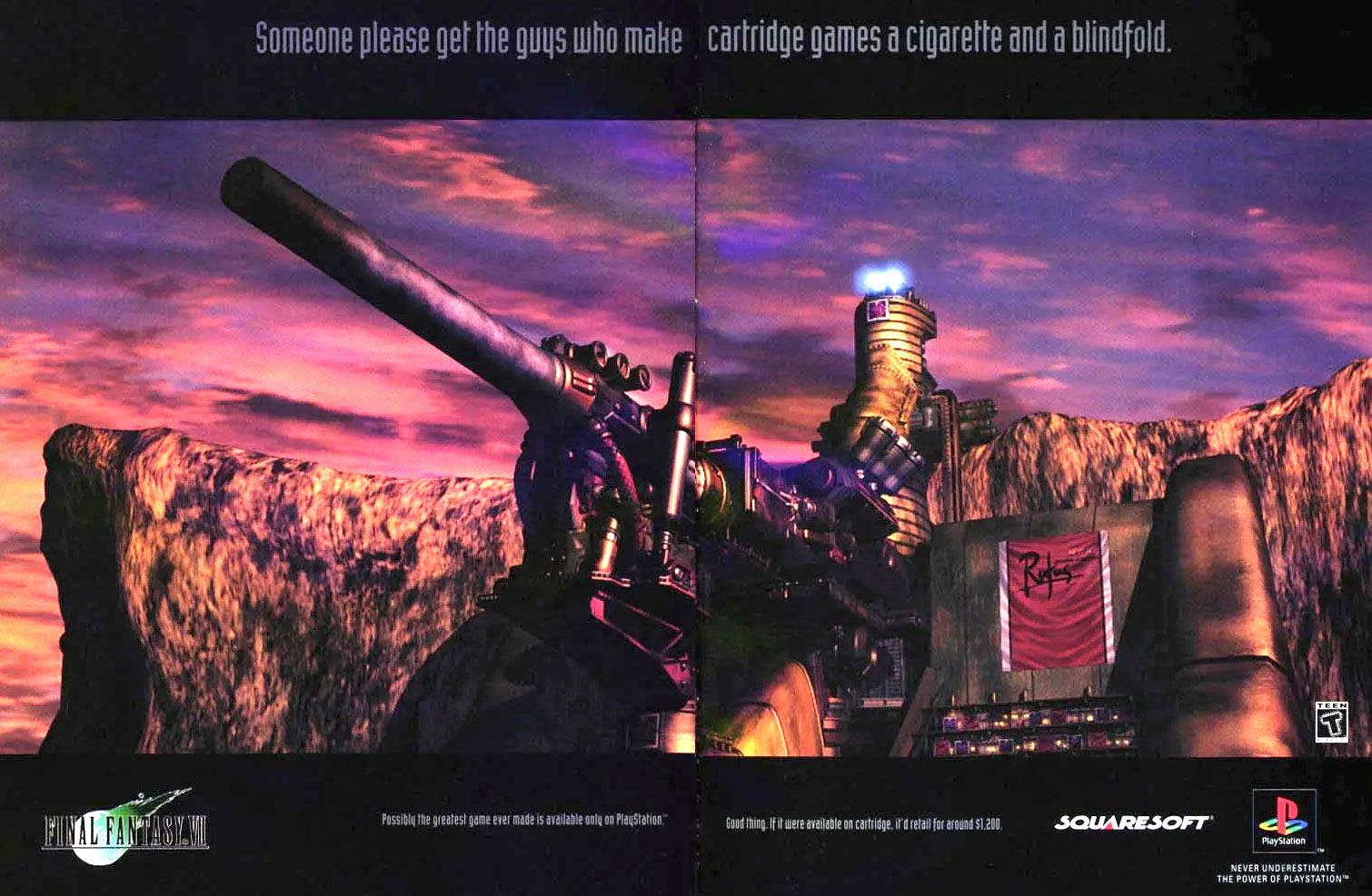 Publicité pour Final Fantasy VII