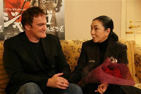 Meiko Kaji et Quentin Tarantino